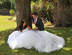 outside riviera centre wedding